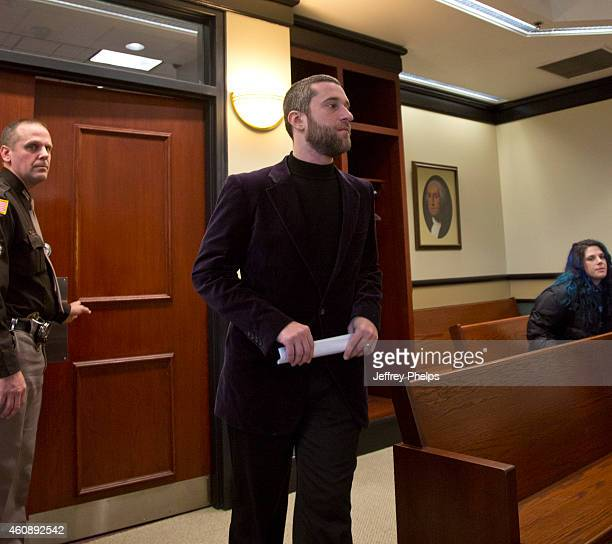 Dustin Diamond walks into a courtroom for his status hearing at Ozaukee County Courthouse on December 29 2014 in Port Washington Wisconsin Diamond...