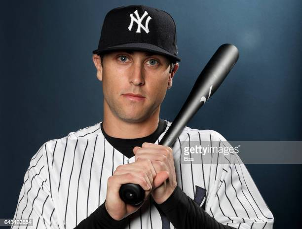 Dustin Fowler of the New York Yankees poses for a portrait during the New York Yankees photo day on February 21 2017 at George M Steinbrenner Field...