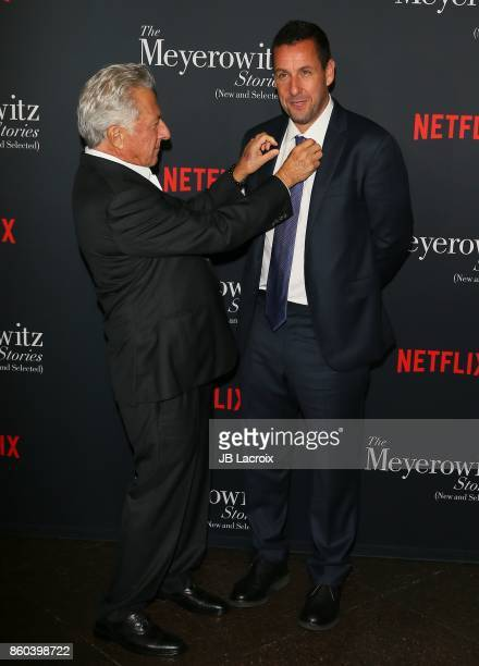 Dustin Hoffman and Adam Sandler attend a screening of Netflix's on October 11 2017 in Los Angeles California