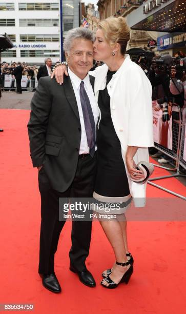 Dustin Hoffman and Emma Thompson arrive at the premiere of Last Chance Harvey at the Odeon West End in London