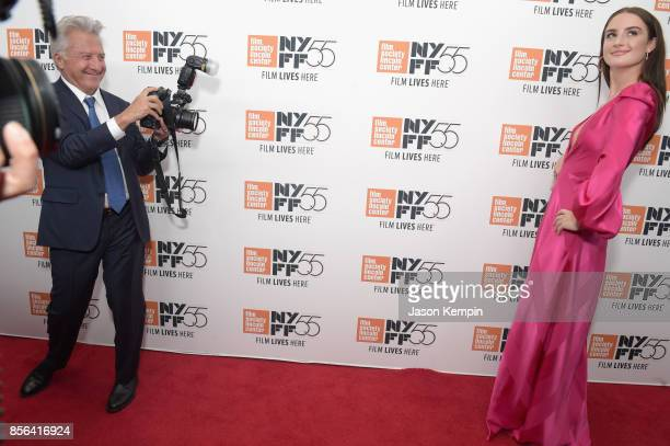Dustin Hoffman and Grace Van Patten attend the New York Film Festival premiere of The Meyerowitz Stories at Alice Tully Hall on October 1 2017 in New...