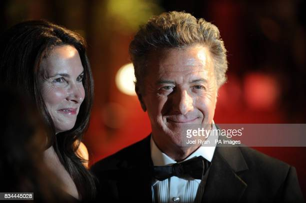 Dustin Hoffman and his wife Lisa arrive at the after party for the film 'Kung Fu Panda' at the Carlton pier during the 61st Cannes Film Festival in...