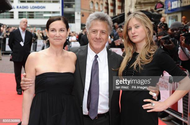 Dustin Hoffman and his wife Lisa Gottsegen and daughter Karina arrive at the premiere of Last Chance Harvey at the Odeon West End in London