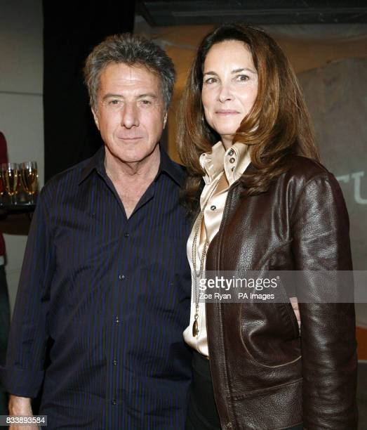 Dustin Hoffman and his wife Lisa Gottsegen attend the launch of the new NikeiD Studio at Nike Town in central London