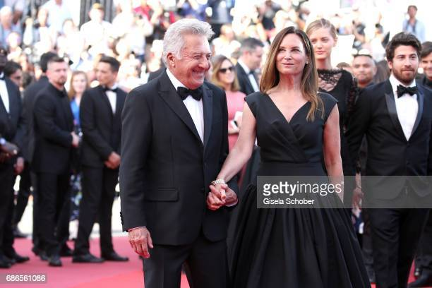 Dustin Hoffman and his wife Lisa Hoffman attend 'The Meyerowitz Stories' premiere during the 70th annual Cannes Film Festival at Palais des Festivals...