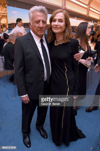 Dustin Hoffman and Isabelle Huppert attend the Vanity Fair and HBO Dinner celebrating the Cannes Film Festival at Hotel du CapEdenRoc on May 20 2017...