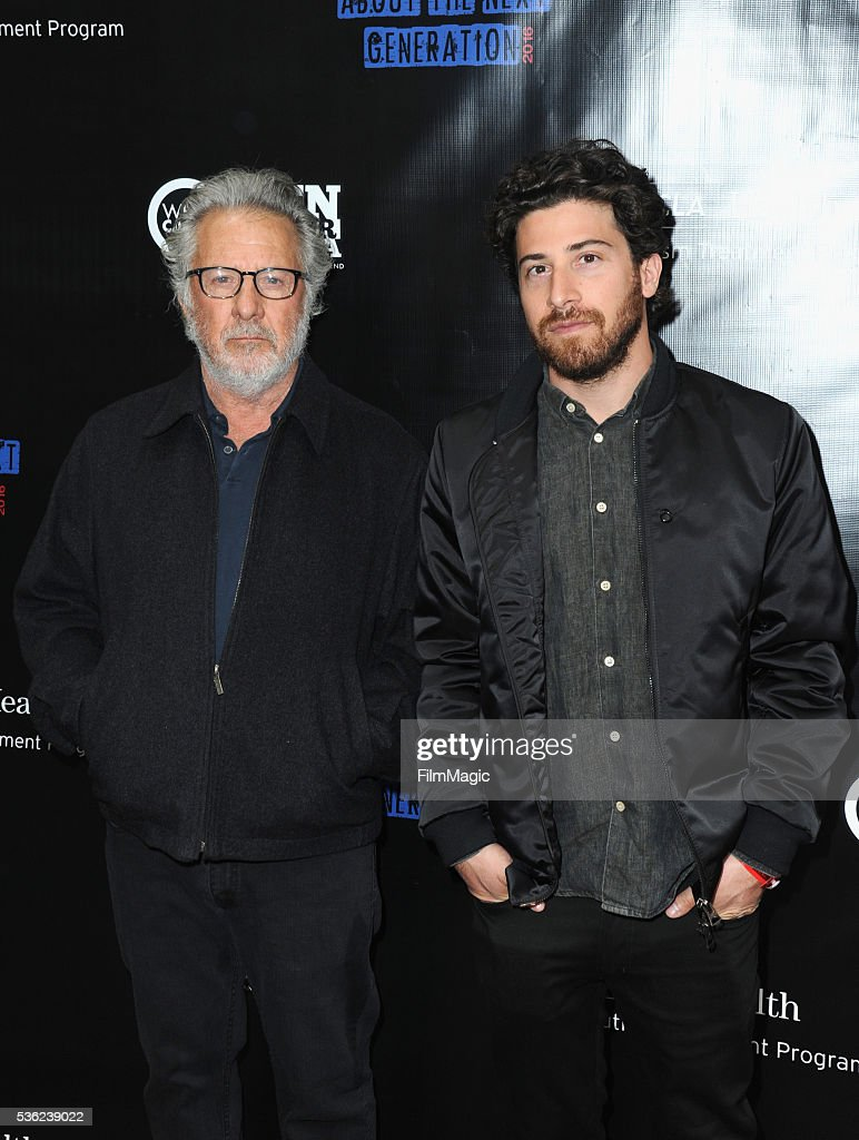 <a gi-track='captionPersonalityLinkClicked' href=/galleries/search?phrase=Dustin+Hoffman&family=editorial&specificpeople=171356 ng-click='$event.stopPropagation()'>Dustin Hoffman</a> and <a gi-track='captionPersonalityLinkClicked' href=/galleries/search?phrase=Jake+Hoffman&family=editorial&specificpeople=565940 ng-click='$event.stopPropagation()'>Jake Hoffman</a> attend WHO Cares About The Next Generation at a private residence on May 31, 2016 in Pacific Palisades, California.