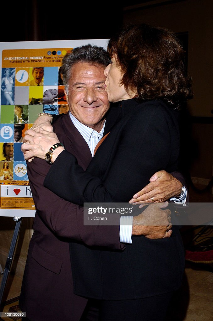 Dustin Hoffman and Lily Tomlin during Details Magazine and GUESS? Host I Heart Huckabees Premiere - Red Carpet at The Grove in Los Angeles, California, United States.