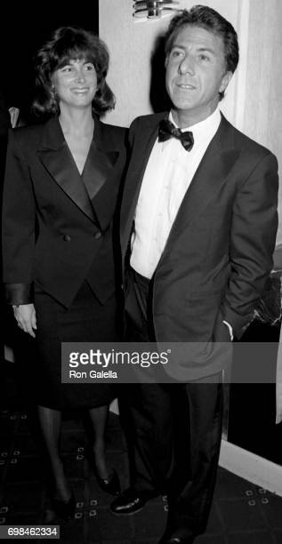 Dustin Hoffman and Lisa Hoffman attend American Museum of the Moving Image Gala Honoring Elia Kazan on January 19 1987 at the Waldorf Hotel in New...