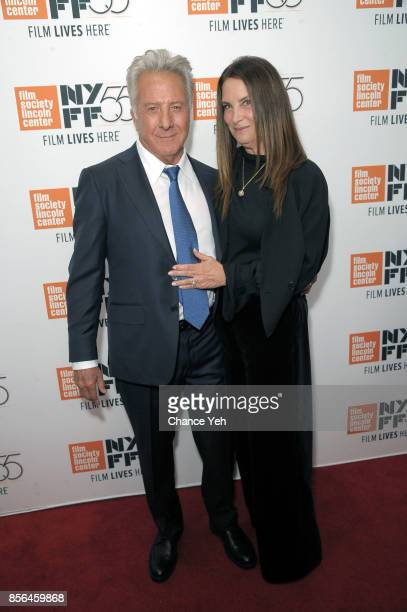 Dustin Hoffman and Lisa Hoffman attend 'Meyerowitz Stories' screening during the 55th New York Film Festival at Alice Tully Hall on October 1 2017 in...