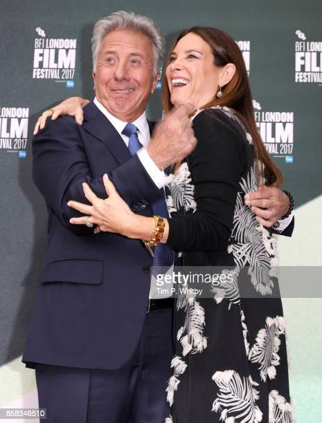 Dustin Hoffman and Lisa Hoffman attend the Laugh Gala and UK Premiere of 'The Meyerowitz Stories' during the 61st BFI London Film Festival on October...