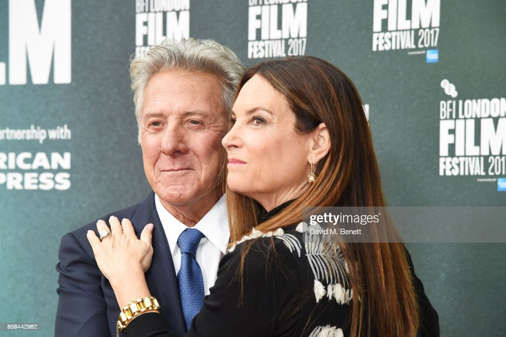 Dustin Hoffman (L) and Lisa Hoffman attend the Laugh Gala & UK Premiere of 'The Meyerowitz Stories' during the 61st BFI London Film Festival at Embankment Gardens Cinema on October 6, 2017 in London, England.