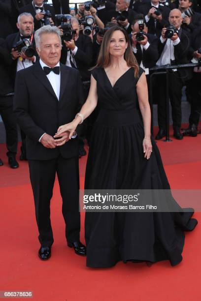 Dustin Hoffman and Lisa Hoffman attend the 'The Meyerowitz Stories' screening during the 70th annual Cannes Film Festival at Palais des Festivals on...