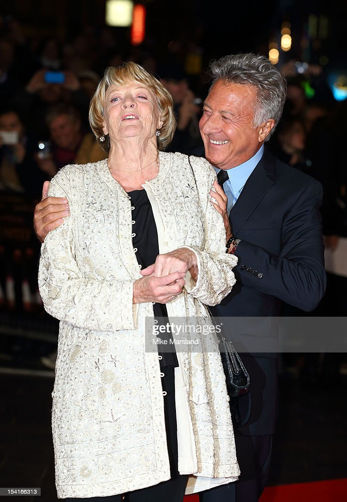Dustin Hoffman and Maggie Smith attend the Premiere of 'Quartet' during the 56th BFI London Film Festival at Odeon Leicester Square on October 15, 2012 in London, England.