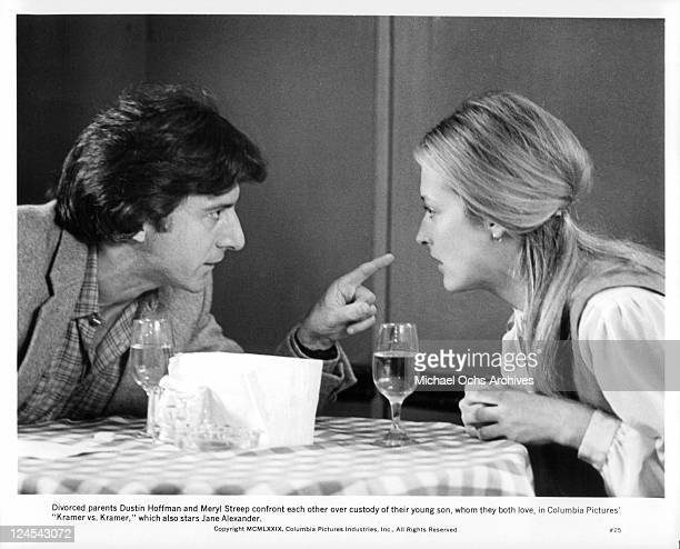 Dustin Hoffman And Meryl Streep confront each other in a scene from the film 'Kramer vs Kramer' 1979