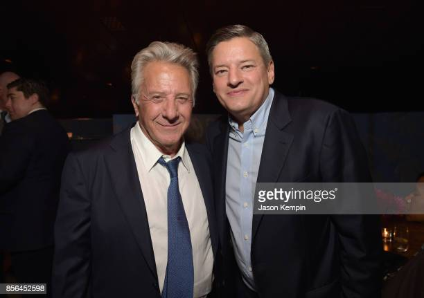 Dustin Hoffman and Netflix Chief Content Officer Ted Sarandos attend the New York Film Festival screening of The Meyerowitz Stories at Alice Tully...