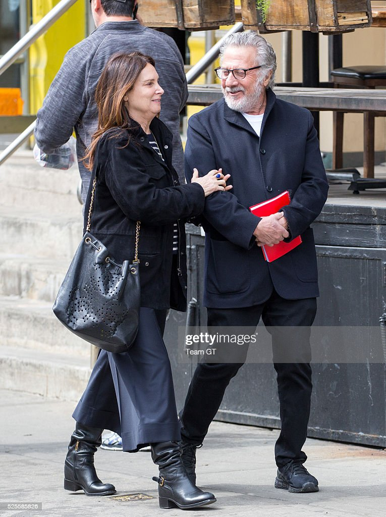 <a gi-track='captionPersonalityLinkClicked' href=/galleries/search?phrase=Dustin+Hoffman&family=editorial&specificpeople=171356 ng-click='$event.stopPropagation()'>Dustin Hoffman</a> and wife Lisa Jo Hoffman seen walking around Soho on April 28, 2016 in New York City.