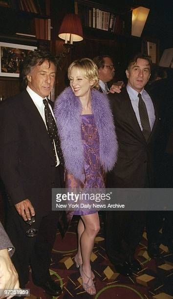 Dustin Hoffman Anne Heche and Robert De Niro get together at screening party for 'Wag the Dog' at LeCirque The three star in the film