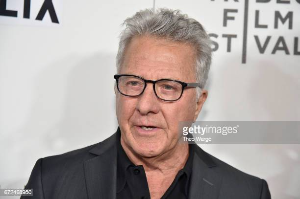 Dustin Hoffman attends Tribeca Talks Noah Baumbach at BMCC Tribeca PAC on April 24 2017 in New York City