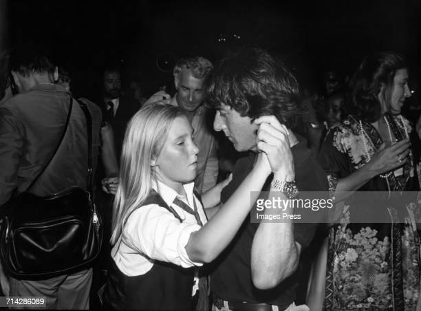 Dustin Hoffman dancing with his daughter Karina at Xenon disco circa 1978 in New York City
