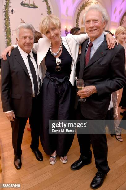 Dustin Hoffman Emma Thompson and Clint Eastwood attend the Vanity Fair and HBO Dinner celebrating the Cannes Film Festival at Hotel du CapEdenRoc on...