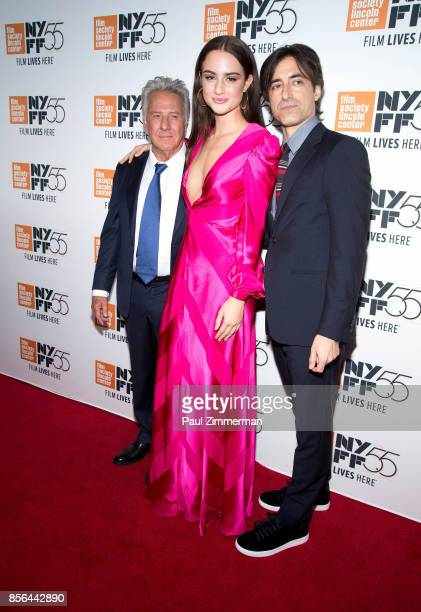 Dustin Hoffman Grace Van Patten and Noah Baumbach attend the 55th New York Film Festival screening of 'Meyerowitz Stories' at Alice Tully Hall on...