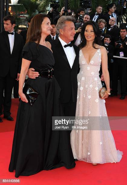 Dustin Hoffman his wife Lisa and Lucy Liu arrive for the screening of 'Kung Fu Panda' during the 61st Cannes Film Festival in Cannes France