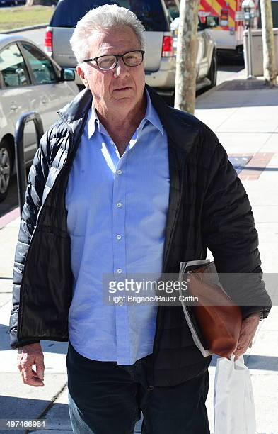 Dustin Hoffman is seen in Brentwood on November 16 2015 in Los Angeles California