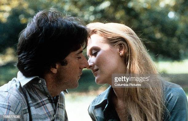 Dustin Hoffman kisses Meryl Streep in a scene from the film 'Kramer Vs Kramer' 1979