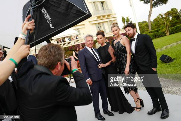 Dustin Hoffman Lisa Hoffman Jenna Kelly and Jake Hoffman attends the amfAR Gala Cannes 2017 at Hotel du CapEdenRoc on May 25 2017 in Cap d'Antibes...