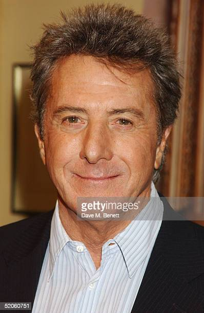 Dustin Hoffman poses at the 'Meet The Fockers' Press Junket at The Dorchester Hotel on January 25 2005 in London The film is the sequel to 2000's hit...