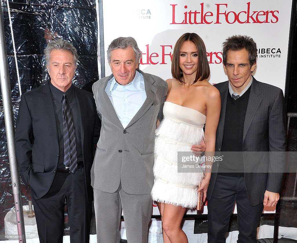 <a gi-track='captionPersonalityLinkClicked' href=/galleries/search?phrase=Dustin+Hoffman&family=editorial&specificpeople=171356 ng-click='$event.stopPropagation()'>Dustin Hoffman</a>, <a gi-track='captionPersonalityLinkClicked' href=/galleries/search?phrase=Robert+De+Niro&family=editorial&specificpeople=201673 ng-click='$event.stopPropagation()'>Robert De Niro</a>, <a gi-track='captionPersonalityLinkClicked' href=/galleries/search?phrase=Jessica+Alba&family=editorial&specificpeople=201811 ng-click='$event.stopPropagation()'>Jessica Alba</a> and <a gi-track='captionPersonalityLinkClicked' href=/galleries/search?phrase=Ben+Stiller&family=editorial&specificpeople=201806 ng-click='$event.stopPropagation()'>Ben Stiller</a> attend the World Premiere of 'Little Fockers' at the Ziegfeld Theatre on December 15, 2010 in New York City.
