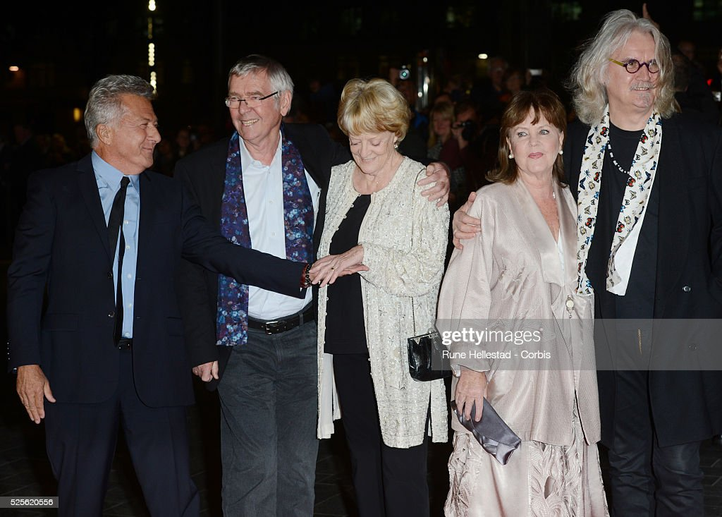 Dustin Hoffman Tom Courtenay Maggie Smith Pauline Collins and Billy Connolly attend the premiere of Quartet at The BFI London Film Festival at Odeon...