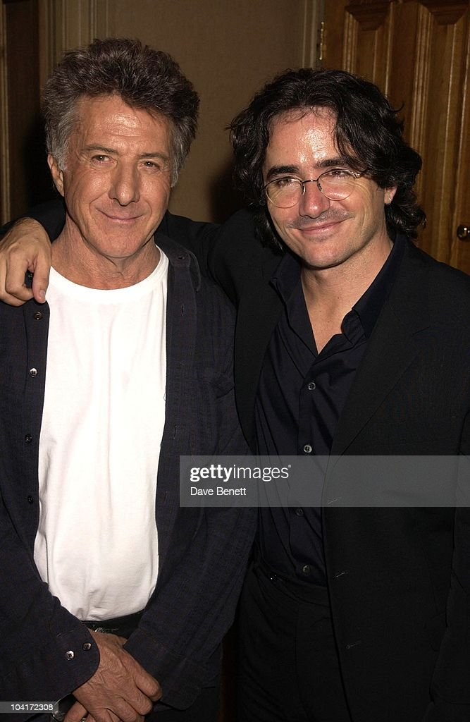 Dustin Hoffman With Director Brad Siberling, American Actor Dustin Hoffman At The Charlotte Street Hotel.for The Screening Of His New Movie Ômoonlight Mile'