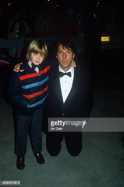 Dustin Hoffman with Justin Henry who played the son in 'Kramer vs Kramer' circa 1970 New York