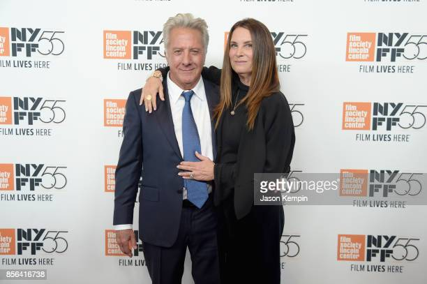 Dustin Hoffmand and Lisa Hoffman attend the New York Film Festival premiere of The Meyerowitz Stories at Alice Tully Hall on October 1 2017 in New...