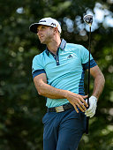 Dustin Johnson of the United States plays the ball from the eleventh tee during round three of the 2016 RBC Canadian Open at Glen Abbey Golf Course...