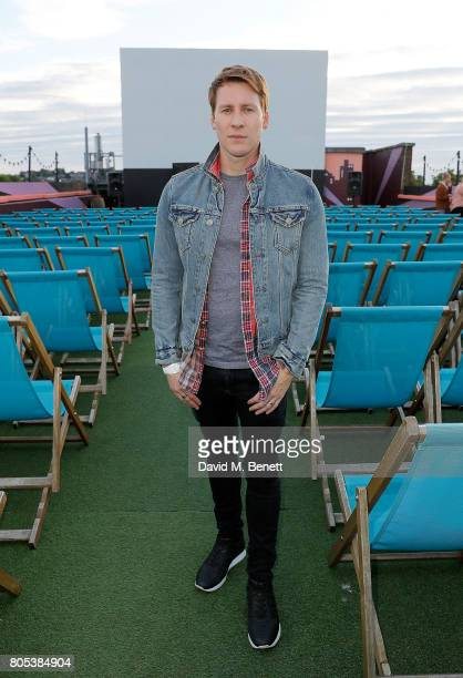 Dustin Lance Black attends the MILK Screening for the Focus Features 15 Year Anniversary at The Rooftop Film Club on July 1 2017 in London United...