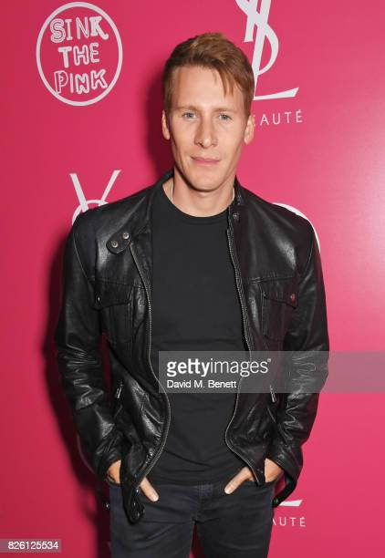 Dustin Lance Black attends the #YSLBeautyClub party in collaboration with Sink The Pink at The Curtain on August 3 2017 in London England