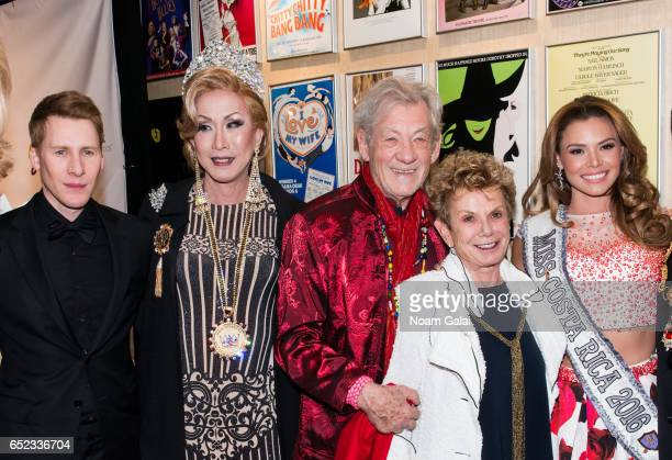 Dustin Lance Black Coco LaChic Ian McKellen Dena Hammerstein and Carolina Rodriguez attend the 2017 Imperial Court of New York Night of a Thousand...