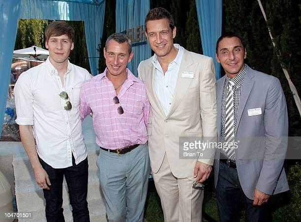 Dustin Lance Black honoree Adam Shankman Robert Gant and Mark Supper attend 9th annual GLEH garden party at PetitfilsBoos Estate on October 3 2010 in...
