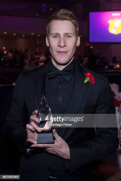 Dustin Lance Black recieves the ICNY Diamond Award during the 2017 Imperial Court Of New York Night Of A Thousand Gowns at Marriott Marquis Hotel on...