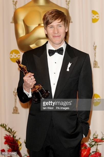 Dustin Lance Black with the Best Original Screenplay award received for Milk at the 81st Academy Awards at the Kodak Theatre Los Angeles