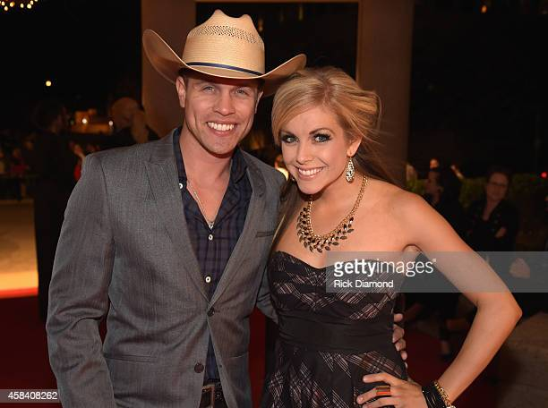 Dustin Lynch and Lindsay Ell attend the BMI 2014 Country Awards at BMI on November 4 2014 in Nashville Tennessee