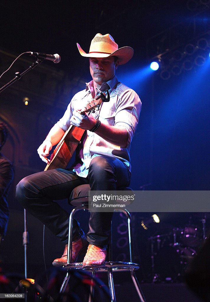 Dustin Lynch performs at Nash Bash at Roseland Ballroom on February 18, 2013 in New York City.