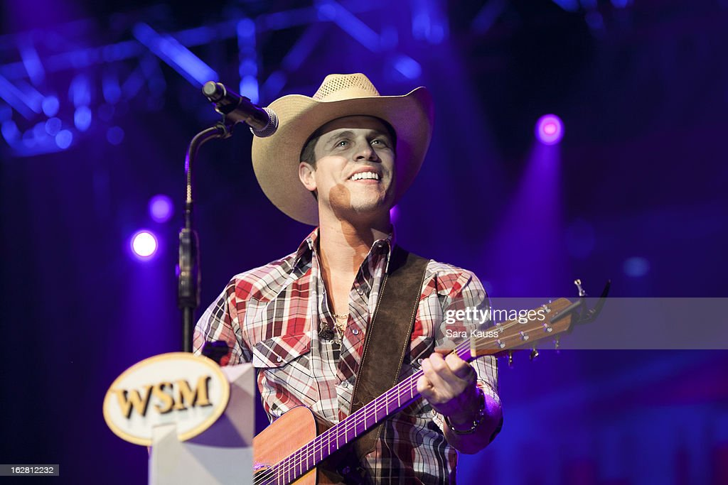 Dustin Lynch performs onstage during CRS 2013 on February 27, 2013 at the Grand Ole Opry in Nashville, Tennessee.