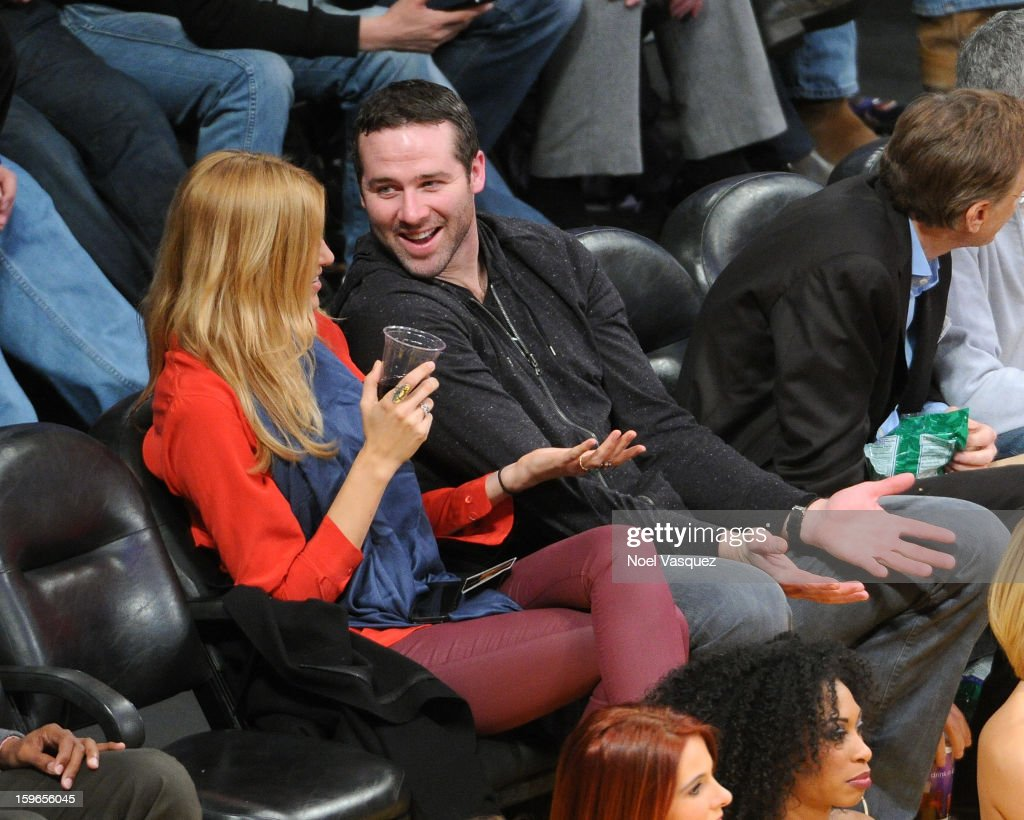 Dustin Penner attends a basketball game between the Miami Heat and the Los Angeles Lakers at Staples Center on January 17, 2013 in Los Angeles, California.