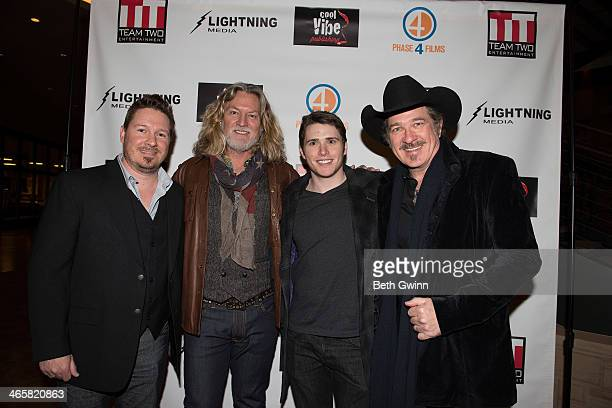 Dustin Rikert William Shockley Eric Brooks and Kix Brooks attends the 'Ambush At Dark Canyon' premiere at the Country Music Hall of Fame and Museum...