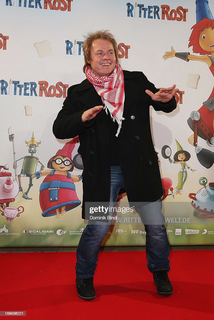 Dustin Semmelrogge attends the Ritter Rost Premiere on January 6, 2013 in Munich, Germany.