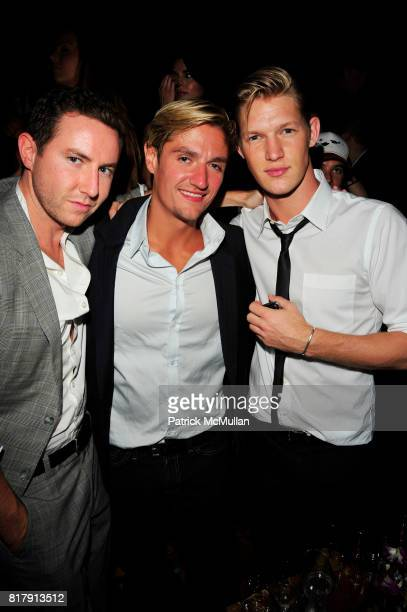 Dustin Terry Matt Assante and Nils Lawton attend LAVO NY Grand Opening at LAVO NYC on September 14 2010 in New York City